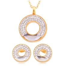 Yiwu zhongzhe jewelry co ltd fashion jewelrybracelets stainless steel pendant necklace earrings jewelry wholesale new 18k real gold plated crystal rhinestone bridal jewelry mozeypictures Choice Image