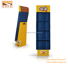 Book sewer cardboard pos stands retail display stand book display stands