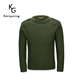 Army Green Crew Neck Wool Top Quality Finishing Process Military Commando Wool Pullover