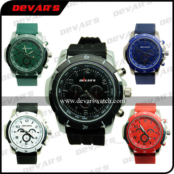 watch brand names Devars day of the week watch silicone sport