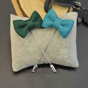 Men Fashion Silk Woven Flower Label Pin Bow Tie Clips Wholesale