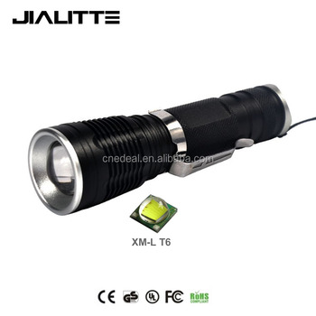 Jialitte F039 Aluminum Alloy CREEs T6 Led Zoomable Torch Portable Hunting Waterproof LED Flashlight