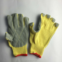 High quality cow split leather coated cut resistant gloves safety work gloves used in industrial