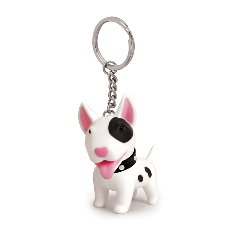 Personalizado personalizado animal forma cão Action Figure soft pvc pop keychain