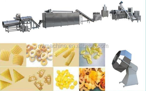 Automatic Corn Ring Puff Snacks Production Line
