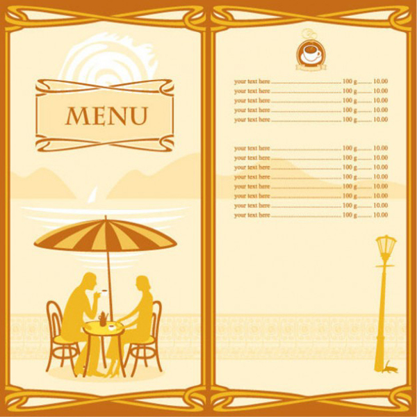 Custom personalized definition menu card buy