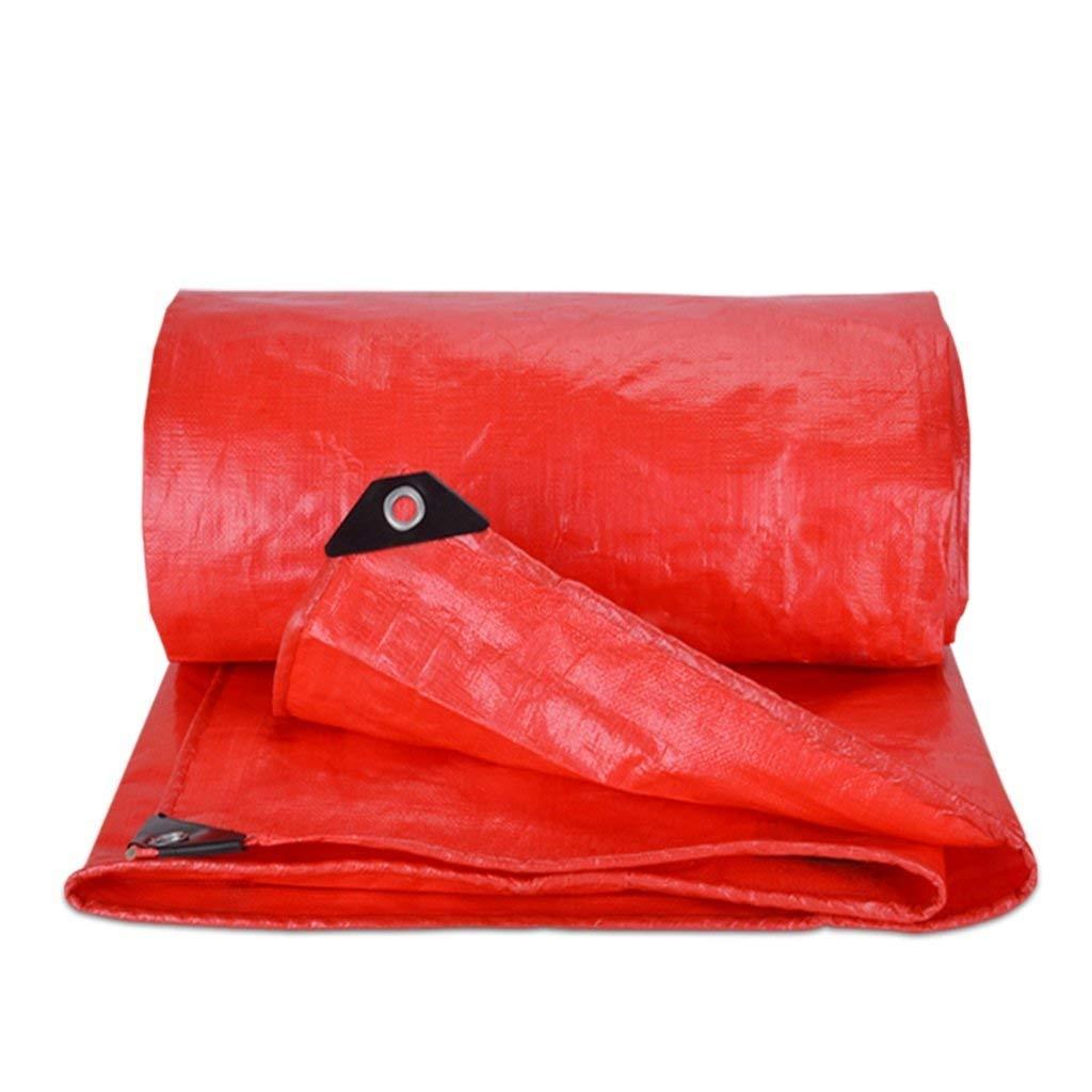 COZY HOME AAA Tarpaulin, double-sided waterproof outdoor shade cloth Multi-functional cloak-camping fishing float garden fabric Sunproof fabric red 180G/M² (34m)