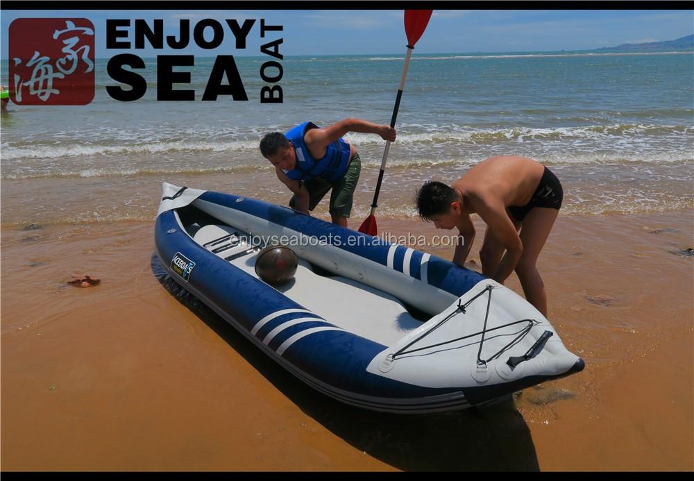2 Person Inflatable Kayak Canoe Aluminium Paddles Pump