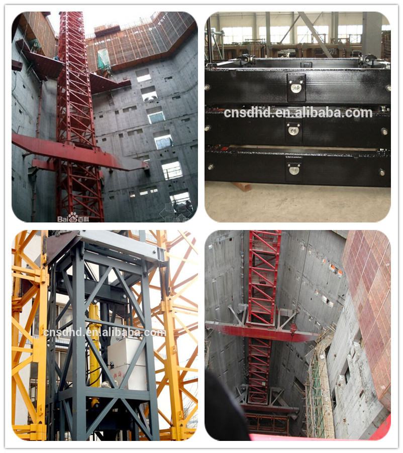 Self Erecting Mini 5t Inner Climbing Tower Crane