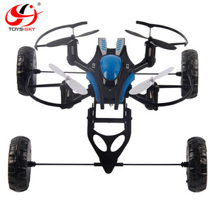 Newest 2.4G 4-Axis Gyro 3 IN 1 Amphibious vehicles Hover Drone crazy Ufo Flying and Walking On Land And Water