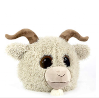 Hotsale Plush Goat Halloween Mask for party/ Goat face mask for halloween party/plush head goat mask for kids adult