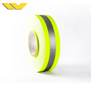 Fireproof Retro Reflector Fluorescent Reflective Tape Yellow for Fireman