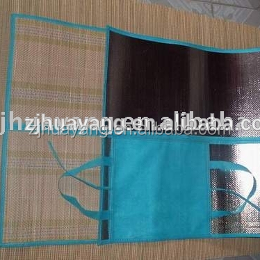 Huayang Foldable Straw beach mat for promotion with a carry bag