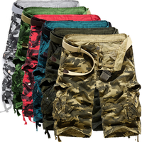 X86010B Loose casual camouflage men cargo shorts