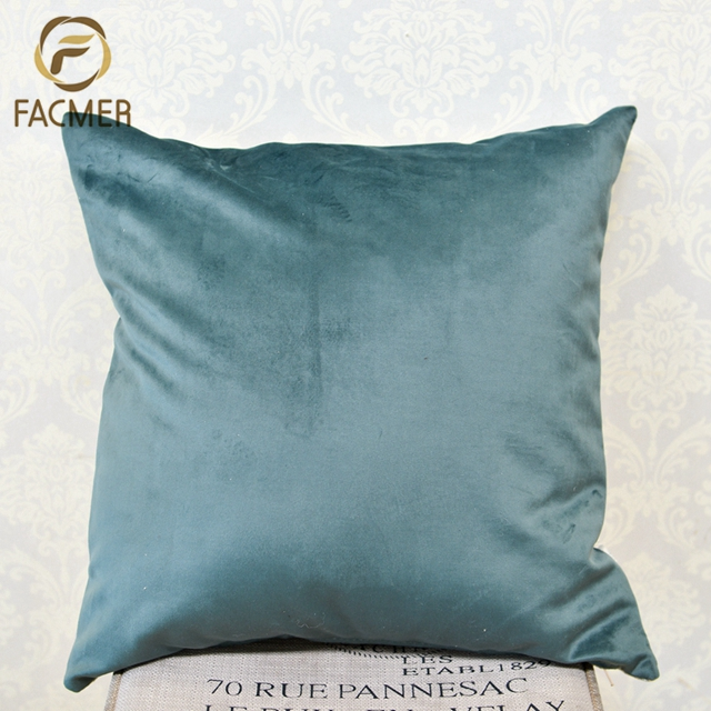 High Quality Classical Velvet Sofa Jacquard Cushion Cover