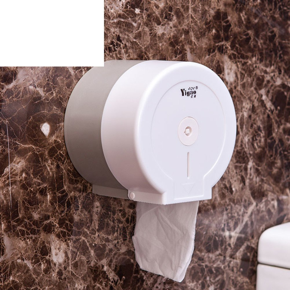 bathroom tissue holder/Little plastic toilet roll holder/ wall-mounted volume tray/ toilet paper roll tissue box-A