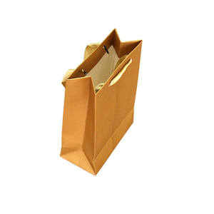230gsm white paper with gold printing low cost wine paper carrier bag with handles