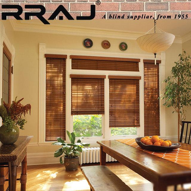 RRAJ Office White Wood Window Blinds Online