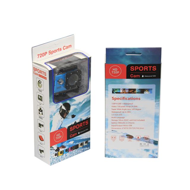 Ücretsiz örnek 30 m Su Geçirmez 720 P eylem spor kamera 2018 ISO9001 gelen pro stil hd 720 p gitmek fabrika