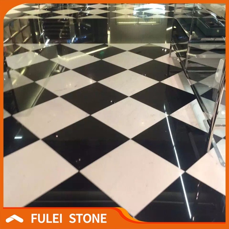 imitation black and white marble floor tile