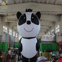 2m/5m/7m openning event decoration cute inflatable Panda with 16colors led lighting attractive animal 2019