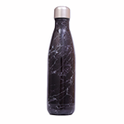 Double wall food grade stainless steel cola shaped vacuum insulated liquid bottle