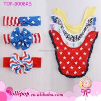 Personalized Custom Cute Printed Baby Bandana Drool Bibs Cotton Baby Bandana Teething Baby Bibs With Ruffle Trim
