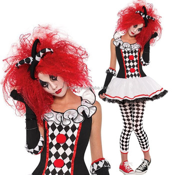 Halloween Costumes For Girls Scary.Ladies Womens Girls Scary Clown Harlequin Honey Halloween Fancy Outfits Dress Costume Outfit Bwg20220 Buy Clown Costume Halloween Girls
