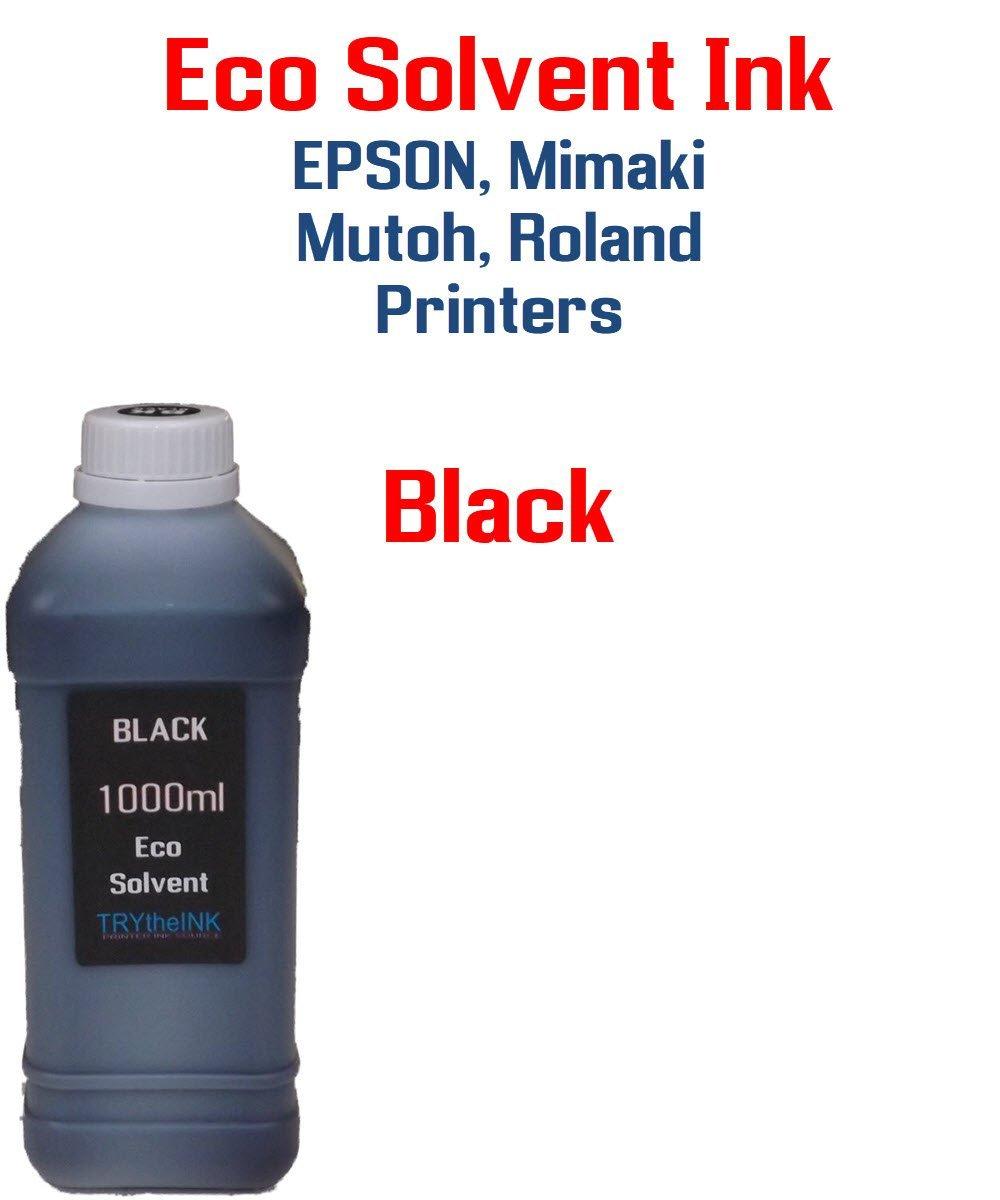 Eco solvent Ink Black 1000ml bottle - Roland, Mimaki, Mutoh printers