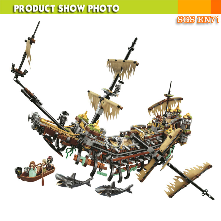 Bela Movie Themes Building Blocks Model Pirate Ship