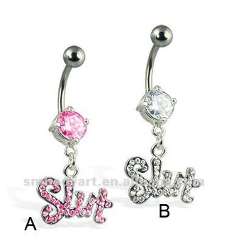 dangle category button navel belly freshtrends bin rings cgi