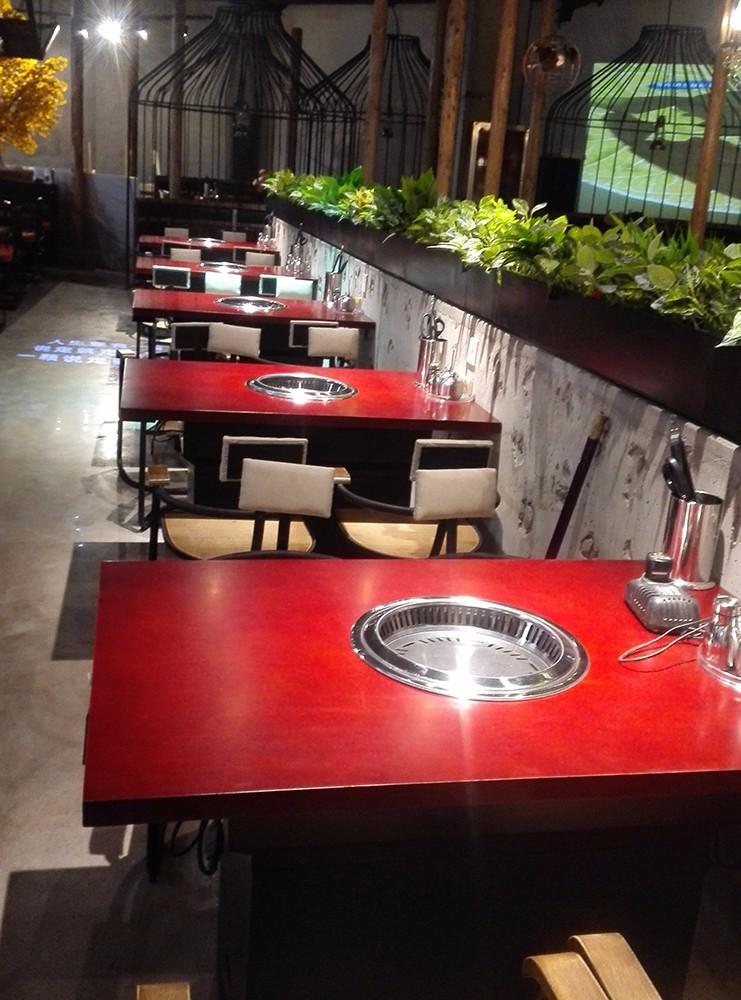 Custom Indoor Korean Bbq Grill Stainless Steel Electric