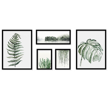 Modern Green Plant Canvas Prints Art Oil Painting ,Wall Decor Painting