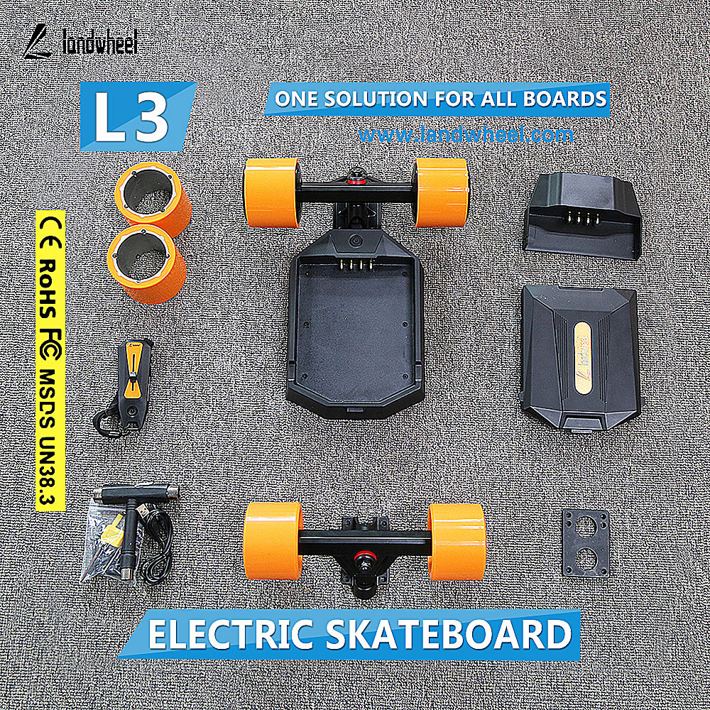 High speed electric skateboard with dual hub motor kits skate trucks for sale