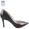 2015 elegant black patent leather made in italian women shoes ladies heel pumps