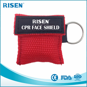 factory price hot sale cpr life key / keychain first aid kit / face mask