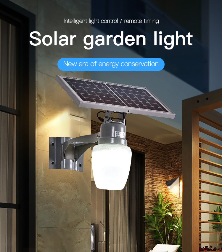 HIGH CLASS High quality aluminum ip65 waterproof 6watt 9watt 15watt solar garden lamp