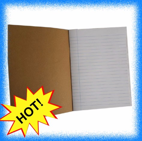 cheap A4 A5 size kraft paper 48P 72P primary school exercise book for Africa market
