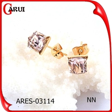 Wholesale cheap apple shaped Shining crystal stud earrings