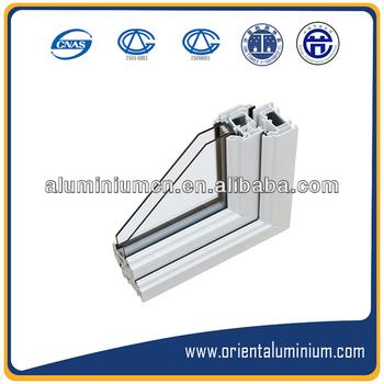 White Powder Coating Finished Aluminium Extrusion Windows And ...