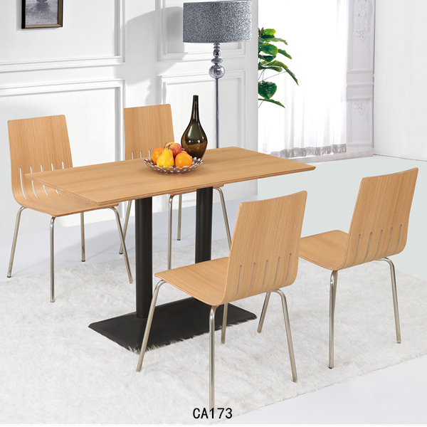 Modern room furniture Wood dining table sets Elegant dinning table and chairs CA173