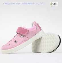 2017 hot selling adorable fashion smart leather girl kids shoes PU Injection waterproof shoes manufacture