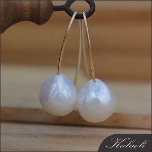 Latest design of 925 sterling silver baroque freshwater pearl earrings