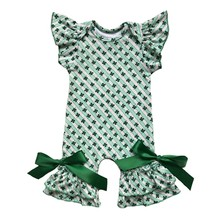 Одежда для младенцев с принтом на 4 июля, фиолетового, зеленого и золотого цвета, Шелковый молочный комбинезон, Детский комбинезон для празд...(Китай)