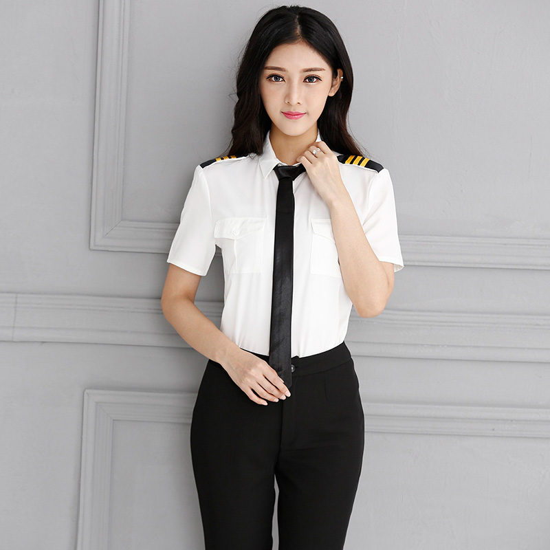 Professionale Slim Freddo Airline Pilot Uniforme Hostess Compagnia Aerea Uniformi Per La Vendita