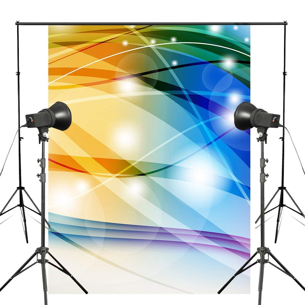 ERTIANANG 150x220cm Shining Line Photography Background Colorful Backdrops Abstract Art Photography Studio Props