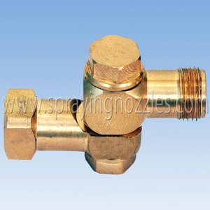 Rotary brass switch head