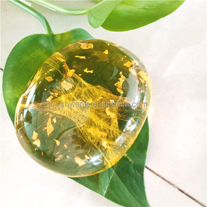 Yellow Crystal gold foil amino acid handmade soap Whitening and cleaning Gold handmade soap for face or body bath bar