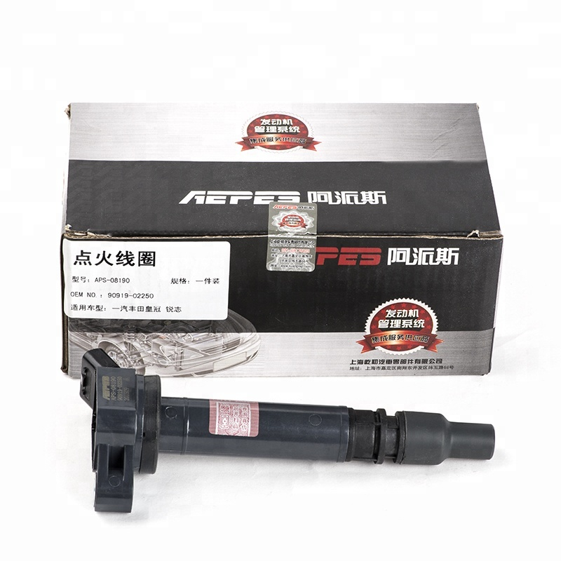 APS-08190 90919-02250 system Denso Ignition Coil for Toyota Crown( FAW)  Reiz Toyota 09 Crown 2 5/3 0 09 Reiz 2 5