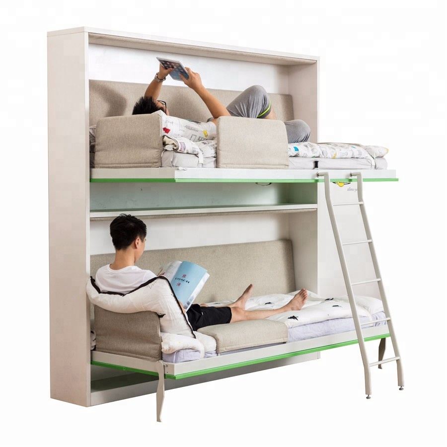 free standing fold up bed transformable furniture horizontal <strong>folding</strong> bunk wall bed